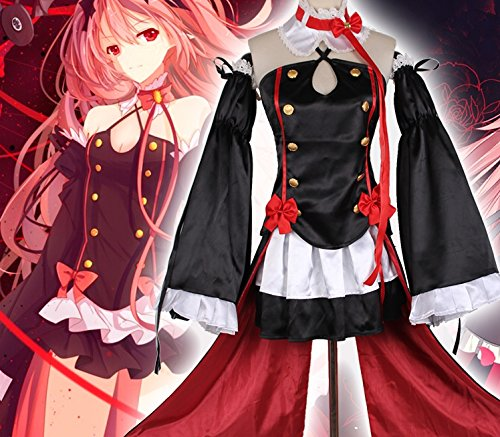 Kostüm Krul Cosplay Tepes - Sunkee Seraph of the End Vampires Krul Tepes Uniform Cosplay Kostüm (XL: 170-175cm, 55-65kg, Krul Tepes)