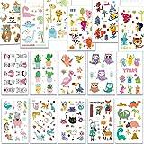 SZSMART Temporäre Tattoos, Tier Welt Sticker Tattoos, Klebe-Tattoos Für Kinder Mädchen Jungen Aufkleber Sticker für Kindergeburtstag Mitgebsel Gastgeschenke Party Spielzeug