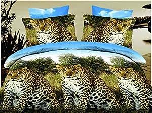 155x200 cm 3D Microfaser Bettwäsche Bettbezüge Bettwäschegarnituren mit dem Bettlaken 4tlg schöne Farben und Muster FSH276