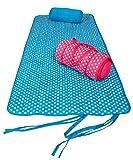 Gepolsterte Strandmatte mit Kissen und Tragegriffen