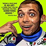 #4: Canvas Wall Painting / Valentino Rossi Quote Printed Unframed Modern Canvas Wall Art Painting by 100yellow- 12 x 12 Inch