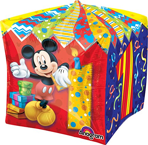 Amscan Folienballons Mickey Mouse, Würfelform, 38 cm