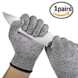 #3: Techsun Cut Resistant Gloves - High Performance Level 5 Protection, Food Grade. Free Size