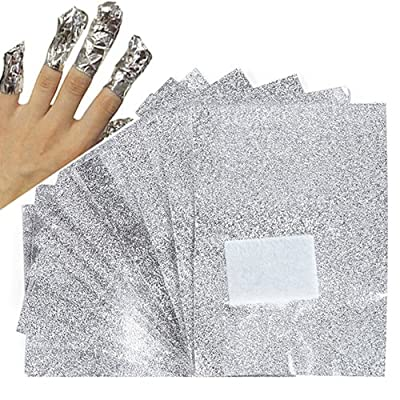 Nighteyes66 100Pcs Aluminium Foil Nail Art Soak Off Acrylic Gel Nail Polish Wraps Remover