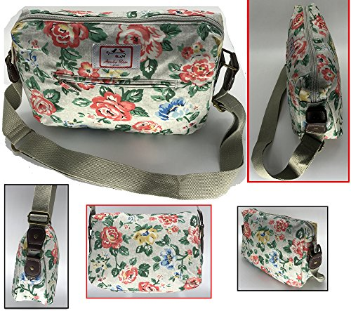 Casual Stylish Floral - Amelia Rose London® - Crossbody messenger shoulder  canvas Bag - Satchel f03241081106a