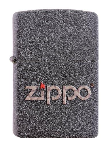 Zippo 60001357 Snakeskin Logo Feuerzeug, Messing, grau