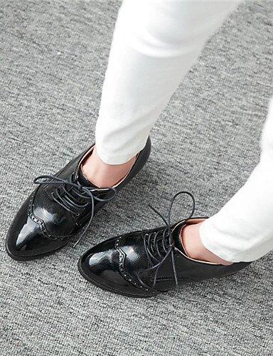ZQ Scarpe Donna - Scarpe col tacco - Ufficio e lavoro / Formale / Casual - Tacchi / Decolleté - Quadrato - Sintetico -Nero / Rosso / Bianco , 2in-2 3/4in-red 2in-2 3/4in-almond