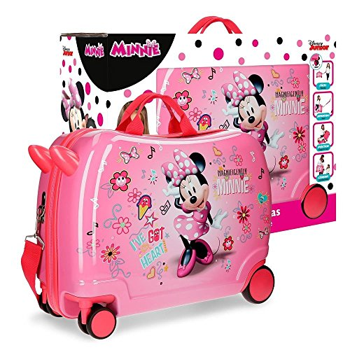 Disney Stickers Valigia per bambini, 50 cm, 34 liters, Rosa