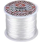 zhibeisai 60m / roll Elastisch Draad Sieraden DIY Kralen Cord Polsband Armband Ketting Enkelband Elastic Draad, White