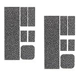 IPOTCH 2pcs Anti-Rutsch Removable Adhesive Handy LadegerätSchutz DIY zurück Aufkleber für iPhone 6s / 7plus, Schwarz
