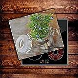CTC-Trade | Herdabdeckplatten 60x52 cm Ceranfeld Abdeckung Glas Spritzschutz Abdeckplatte Glasplatte Herd Ceranfeldabdeckung Küche Grün
