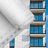 Sichtschutz Balkonsichtschutz Weiß 90cm Balkonverkleidung Windschutz Balkon Sichtblende