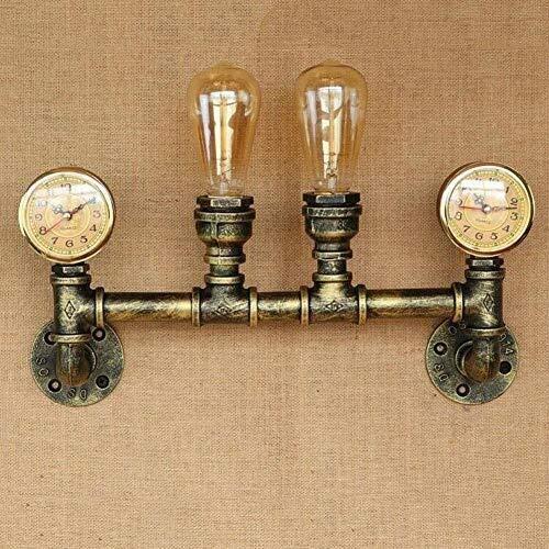 BYDXZ 2-Lights Wandleuchte Wasserpfeife Steampunk Wandleuchte Lampe Industrie Retro Industrie Wand Sicherheit Lichter für Restaurant Studie Schlafzimmer E27