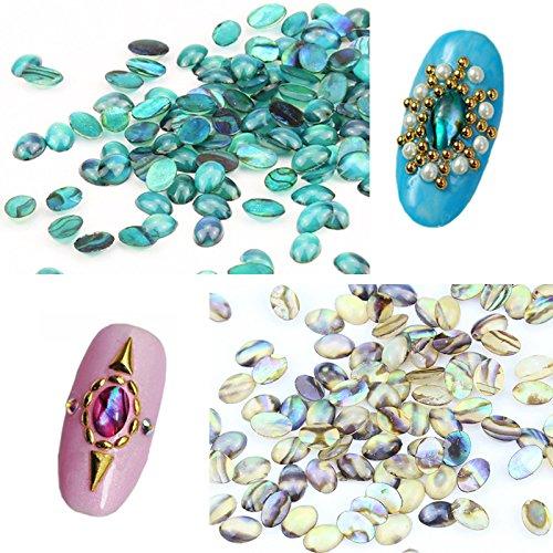 EgBert 10Pcs Naturel Shell Gemme Ongles Art Décoration 3D Strass Uv Gel Diy Acrylique Manucure Goujons Conception - Rouge