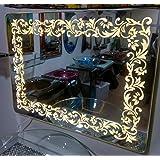 Arvind Sanitary Premium Quality Modern Frameless Fancy Antique Decorative Wall Mirror Designing Border/Bathroom Mirror/wash Basin Mirror/Bedroom Mirror/Home Decor. Decorative Mi - B07FKFFX76