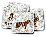 Cuivre Tigre boissons Dessous de Verre–Lot de 4tapis de boissons New Home Cadeau idéal ou cadeau de Pendaison