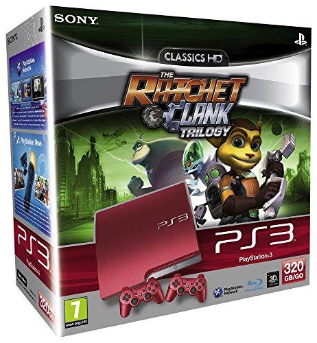 e PS3 320 Go + 2 manettes Dual Shock + Trilogie Ratchet & Clank ()