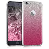 kwmobile Apple iPhone 6 / 6S Hülle - Handyhülle für Apple iPhone 6 / 6S - Handy Case in Pink Silber Transparent