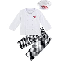 MOMBEBE COSLAND Baby Boys' Chef Costume Sets with Hat