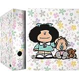 Mafalda 88172611 Colección Mafalda Carpeta de 4 Anillas Mixtas 40mm, Multicolor, A4