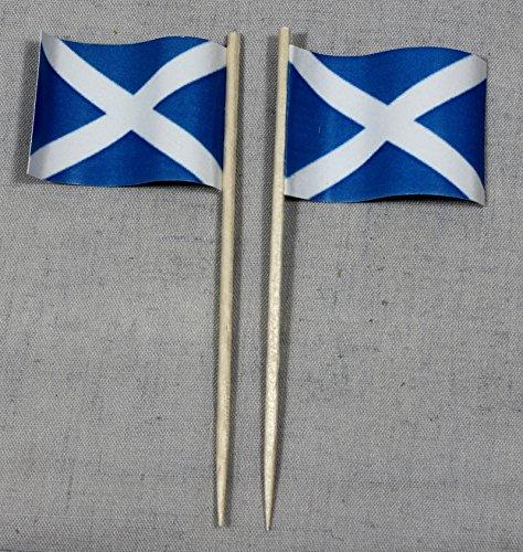 Schottland Papierfähnchen in Spitzenqualität 50 Stück Beutel ()