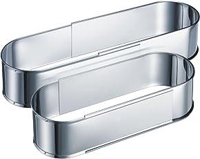 Westmark Ausziehbare/Verstellbare Backformen, Rostfreier Edelstahl, Silber