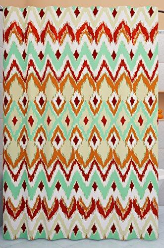 Grace Leinen Vorhang für die Dusche, Kupfer Metallic Orange