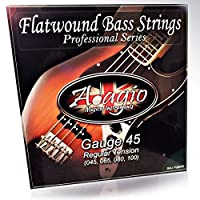 Adagio Flatwound Electric Bass Guitar Strings 45-100 Nickel Standard Regular Gauge