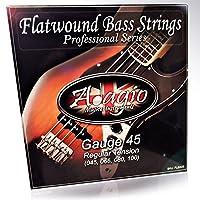 Adagio Flatwound Electric Bass Guitar Strings 45-100 Nickel Standard Regular Gauge