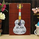 Yongse Gitarre Blech Zeichnung Retro Metall Pub Club Tavern Cafe Shop Poster Blechschild Dekor