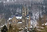 Parish Church Of Clervaux In Luxembourg Europe Home Decor Art Wall Poster 55 X 35 cm