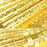 HL-PYL-oro, plata, oro, aluminio, papel tapiz de fondo de mosaico de rejilla en pared, techo, columna contador KTV, stereo wallpaper, 10m*0,53m,Golden,10m*0,53m