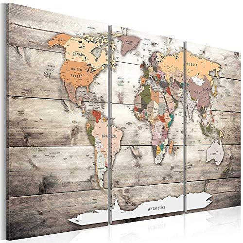 Cuadro Lienzo Mapa Mundo Cuadro Sobre Lienzo Modern