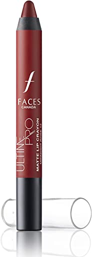 Faces Ultime Pro Matte Lip Crayon With Sharpener, Midnight Rose 12, 2.8g