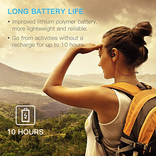 Wireless Headphones Bluetooth Up to 9 Hrs Playing Time Mpow IPX7 Waterproof Headphones