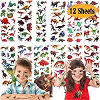 bluesees 3D Stickers for Kids, Toddlers Kids Dinosaur 3D Puffy Stickers Kids Stickers 12 Diffrent Sheets Coloured 3D Stickers for Boys Girls Teachers as Reward,, Craft Scrapbooking