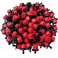 UCLEVER Micro Goteo Riego Rociadores Estaca Emisores 4/7 mm Ajustable Agua Dripper, Paquete de 100