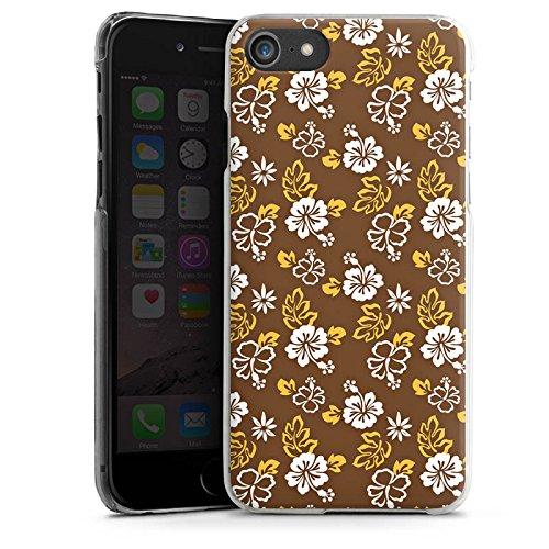 Apple iPhone X Silikon Hülle Case Schutzhülle Blumen Flower Braun Hard Case transparent