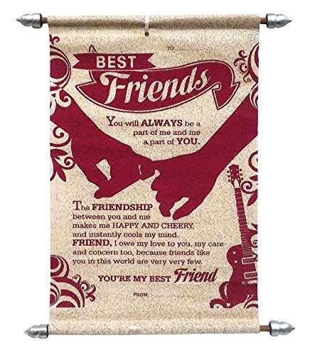 Saugat Traders Best Friends Scroll Card (Maroon)