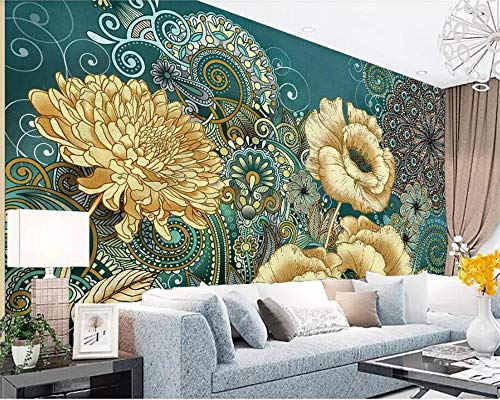 Tapete vintage 3D grau vlies küche puppenhaus Custom photo wallpaper handpainted vintage floral wallpaper living room TV background Silk wallpaper mural -