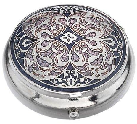 Arabesque Antike (Pille Box (Standard Größe) in einem Arabesque Design in Lila Farbe)