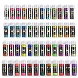 ARTEZA Purpurina facial y corporal | Set de 48 frascos | Polvo de glitter de colores | Ideal para disfraces, maquillaje y manualidades