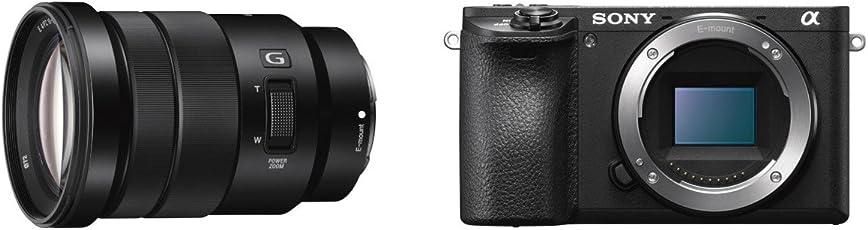 Sony Alpha 6500 APS-C E-Mount Systemkamera (24,2 Megapixel, 7,5 cm (3 Zoll) Touch Display, 5 Achsen-Bildstabilisierung, 425 Phasen AF-Punkte, XGA OLED Sucher, 4K) inkl. SEL-P18105 Objektiv schwarz