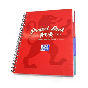 Oxford Campus Project Note Book A4 200 Page Assorted - Red