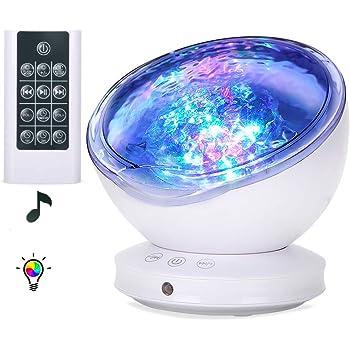 Vagues Océan Lampe Veilleuse Led Des Connectée Simulation Projecteur PNm0O8wyvn