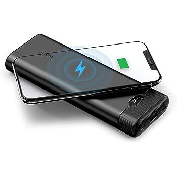 AIDEAZ Batterie Externe 20000 Batterie Portable, Chargeur sans Fil, Alimentation électrique, LCD-Display, la Nouvelle Technologie PowerSense pour iPhone, Samsung Galaxy et Autres (Compatible QC 3.0)