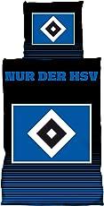 HSV Hamburger SV Bettwäsche ** Nur der HSV ** Schwarz Blau Gestreift 29542