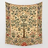 TRUIOKO William Morris Tree of Life 3Wall Hanging for Bedroom Living Room Dorm Wall Tapisserie Decor,80