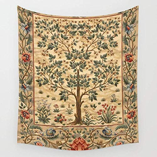 William Cotton Tapestry (KIMIOE Wandteppiche William Morris Tree of Life 3 Wall Tapestry Hanging Tapestries,Boho Mandala Tapestry,Wall Art for Bedroom Living Room Dorm 80X60 inches)
