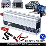 Auto Power Inverter 1500W (3000W Peak) DC 12V to AC 230V Modified Sine Wave